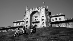 Steps to the Grand Mosque, Bhopal, Madhya Pradesh India 2013.