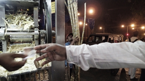 The single best thirst quencher is Cane Juice, there are literally thousands of stalls all over the metropolis selling Cane Juice which is prepared and crushed and mixed with lime or mint and sold for 10rs a glass. Its a sweet, cool light-green drink with a hint of cinnamon and a frothy head.