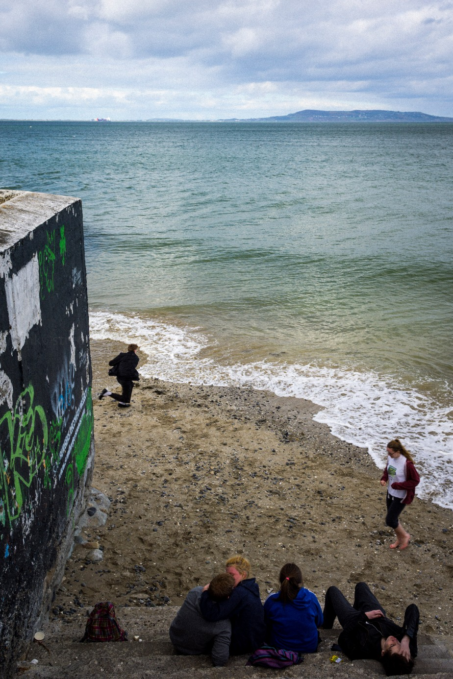 After School fun at blackrock baths. Dublin Ireland.