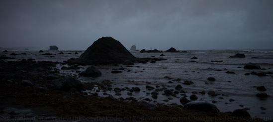 Sea Stacks stand hard against ever raging seas.